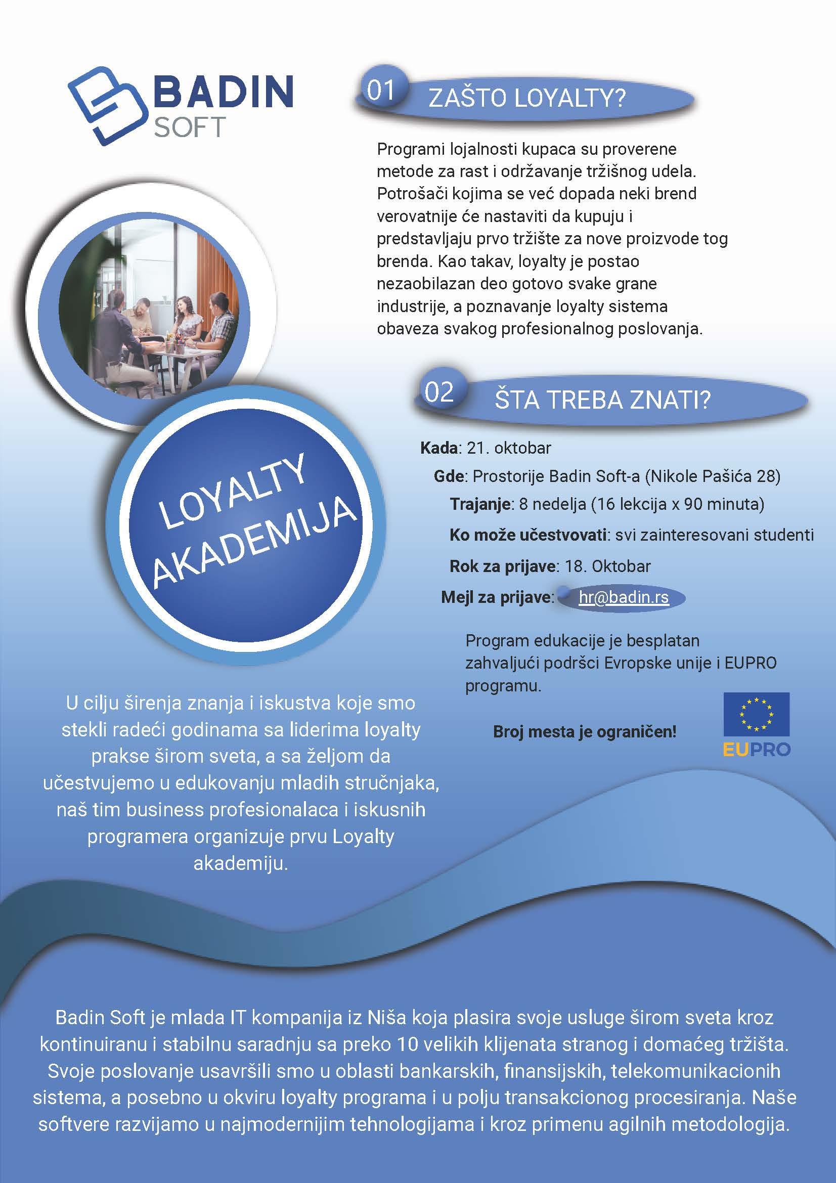 poster loayalty akademije